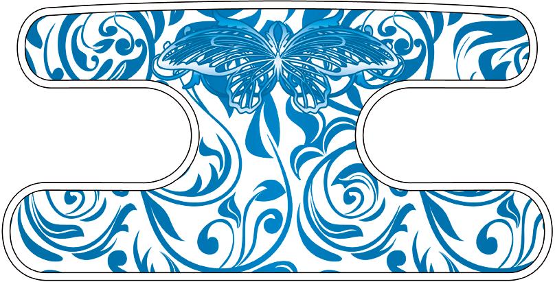 ハンドラップ ビンテージバタフライ ホワイト×ブルー