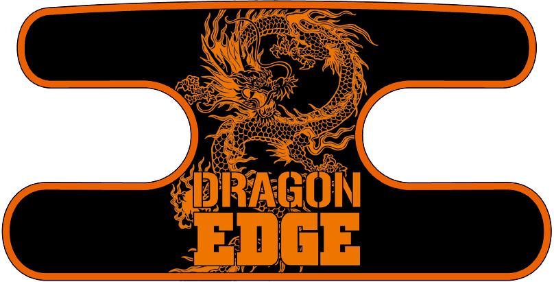 ハンドラップ ドラゴンエッジ ブラック×オレンジ