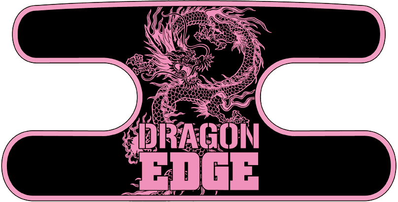 ハンドラップ ドラゴンエッジ ブラック×ピンク
