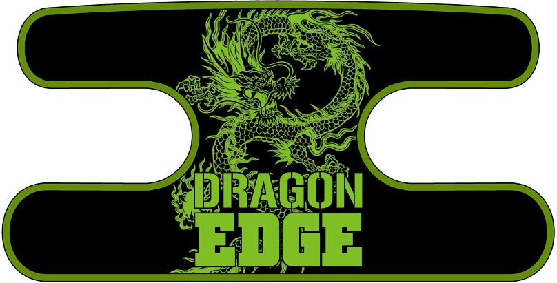 ハンドラップ ドラゴンエッジ ブラック×イエローグリーン