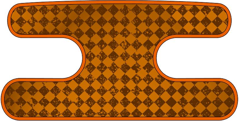 ハンドラップ チェックス オレンジ