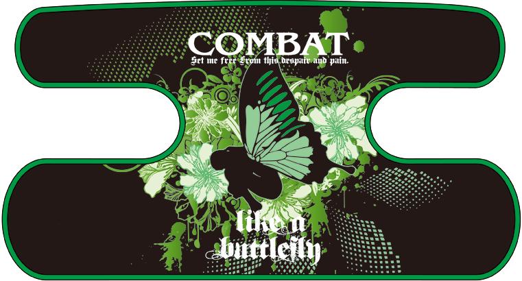 ハンドラップ like a butterfly ブラック×グリーン