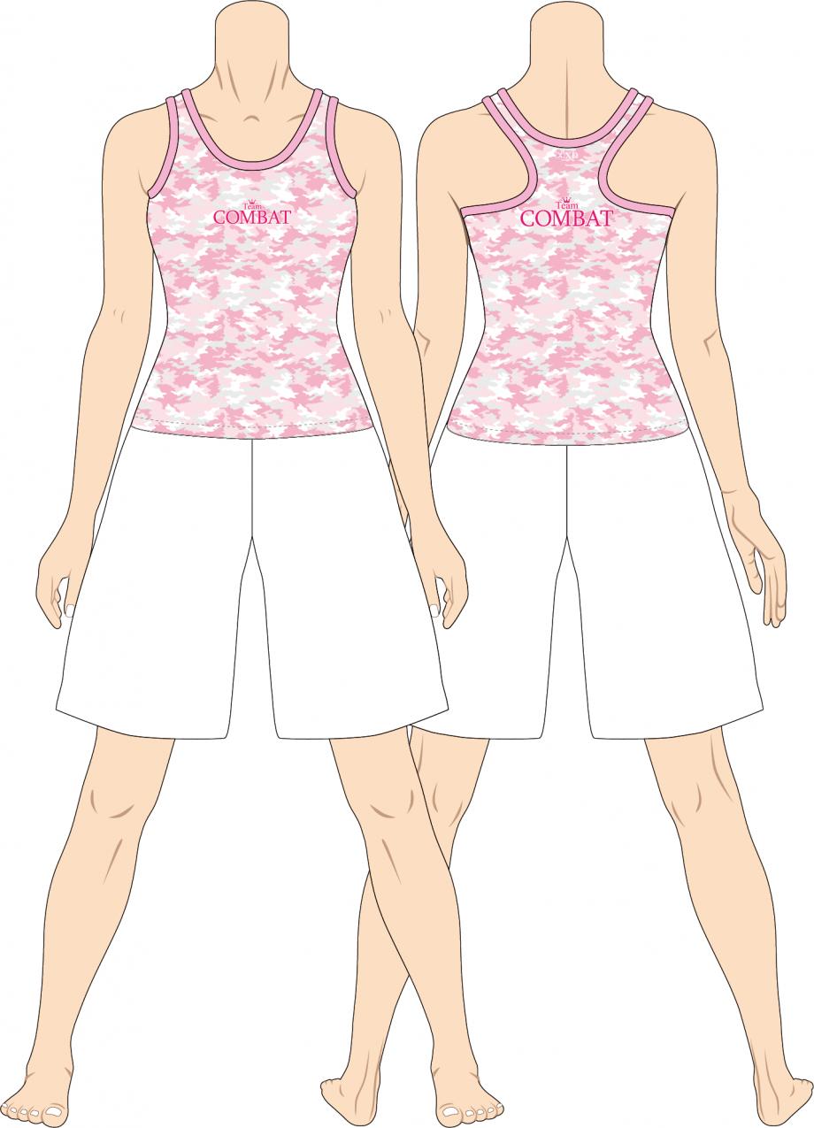 レディス タンクトップ Team Combat カモフラ ピンク