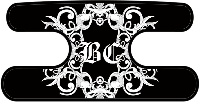 ハンドラップ Floral BC ブラック