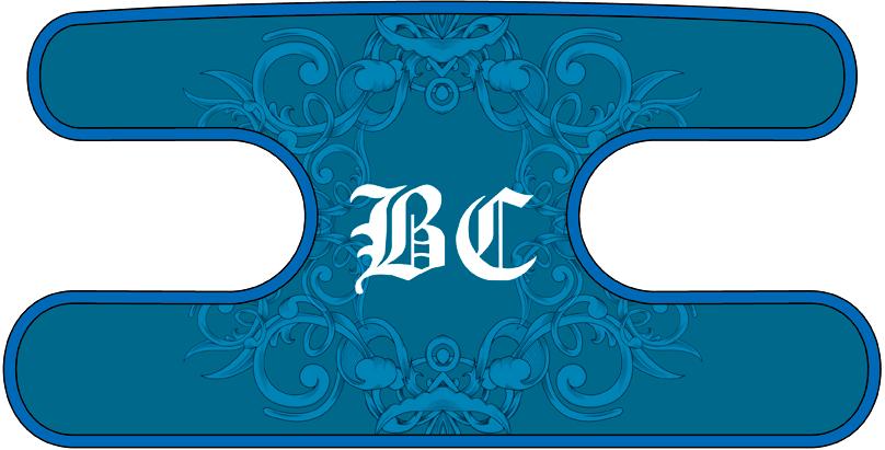 ハンドラップ Floral BC ブルー