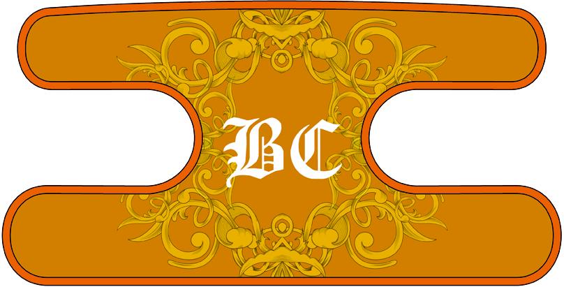 ハンドラップ Floral BC オレンジ