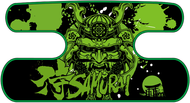 ハンドラップ SAMURAI ブラック×グリーン