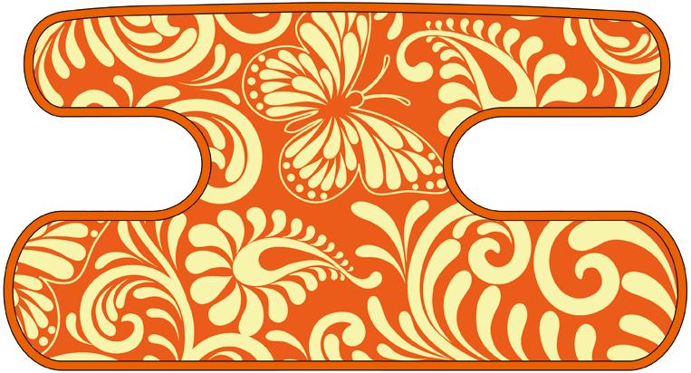 ハンドラップ Flourish Butterfly オレンジ
