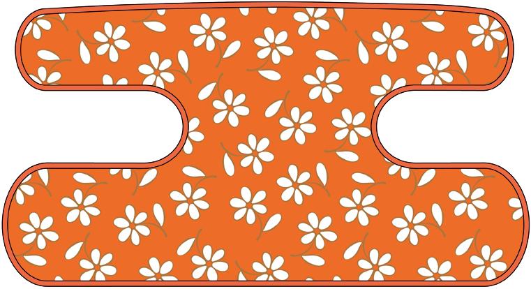 ハンドラップ Little Flower オレンジ