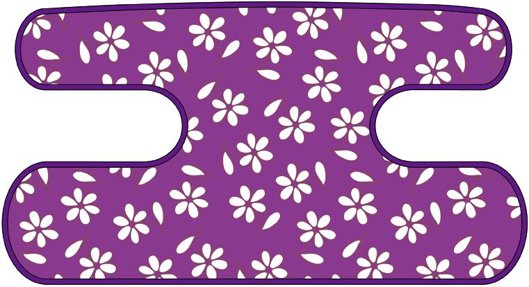 ハンドラップ Little Flower パープル