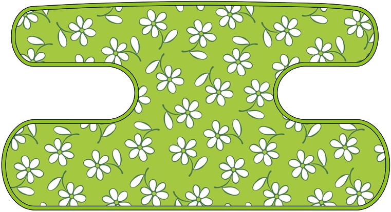 ハンドラップ Little Flower イエローグリーン