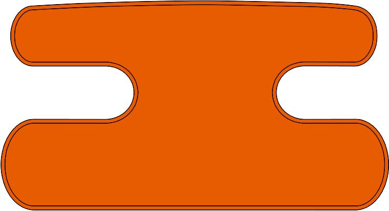 ハンドラップ 無地 オレンジ