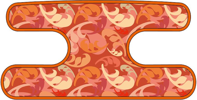 ハンドラップ フローラルカモフラ オレンジ