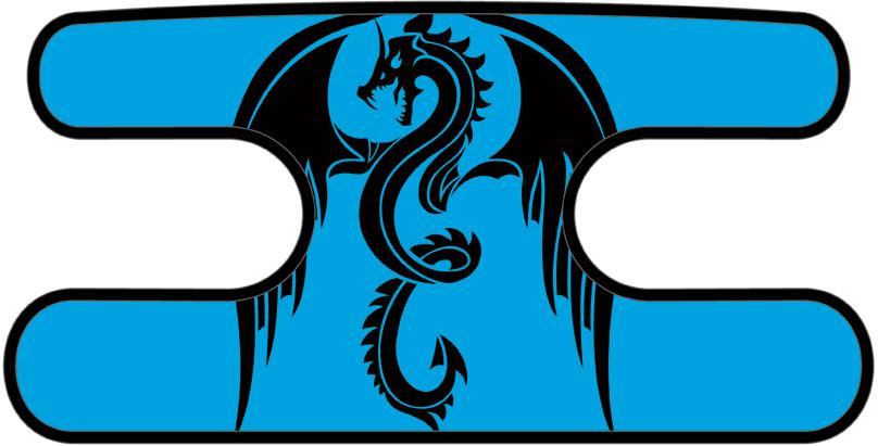 ハンドラップ ドラゴンズフューリー ブルー×ブラック