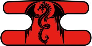 ハンドラップ ドラゴンズフューリー レッド×ブラック