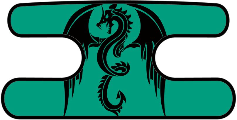 ハンドラップ ドラゴンズフューリー ターコイズ×ブラック