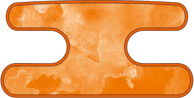 ハンドラップ ウォーターカラー オレンジ