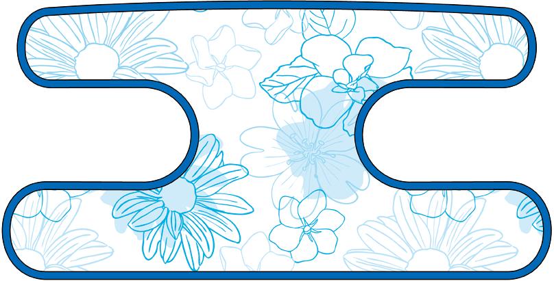 ハンドラップ Irregularity Flowers ブルー