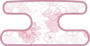 ハンドラップ Irregularity Flowers ピンク