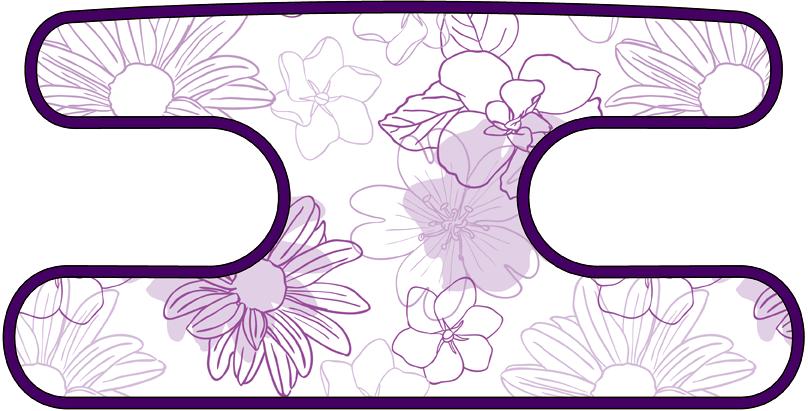 ハンドラップ Irregularity Flowers パープル