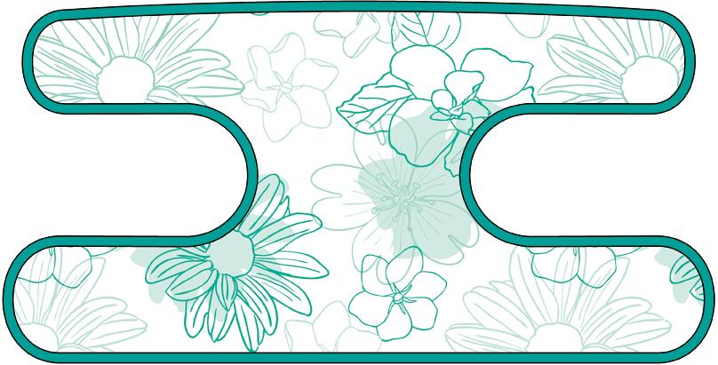 ハンドラップ Irregularity Flowers ターコイズ