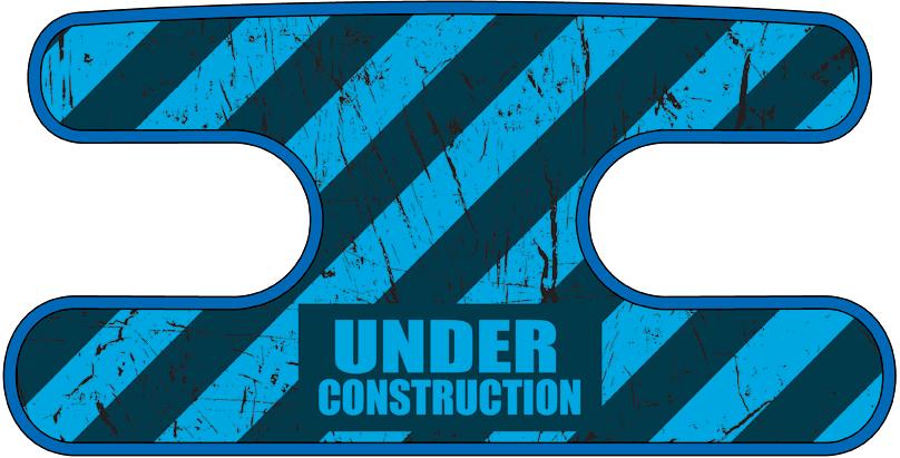 ハンドラップ Under Construction ブルー