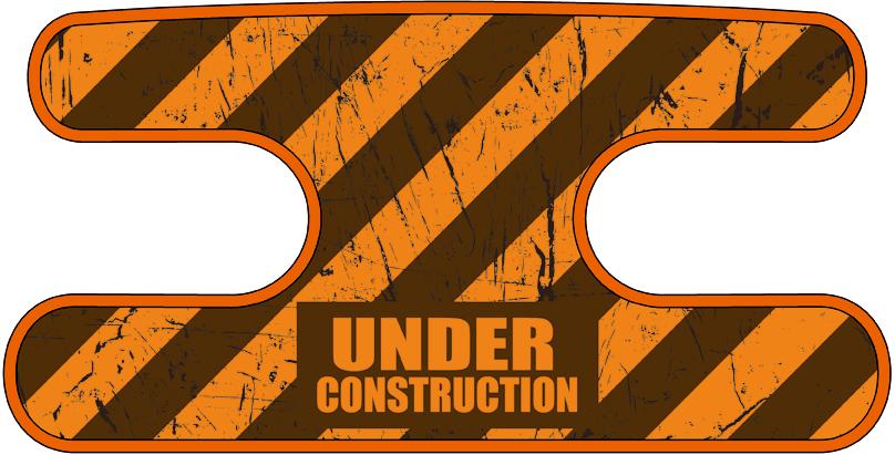ハンドラップ Under Construction オレンジ