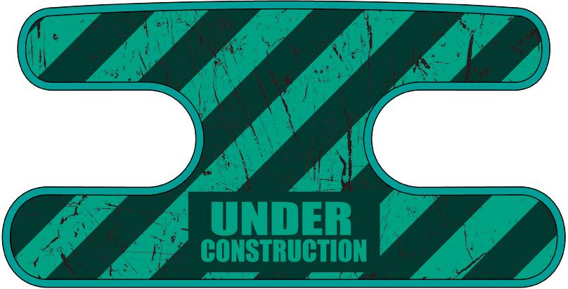 ハンドラップ Under Construction ターコイズ