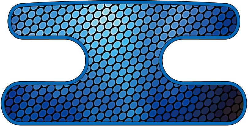 ハンドラップ Oval Glare ブルー