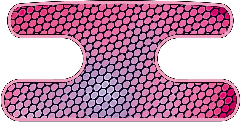 ハンドラップ Oval Glare ピンク