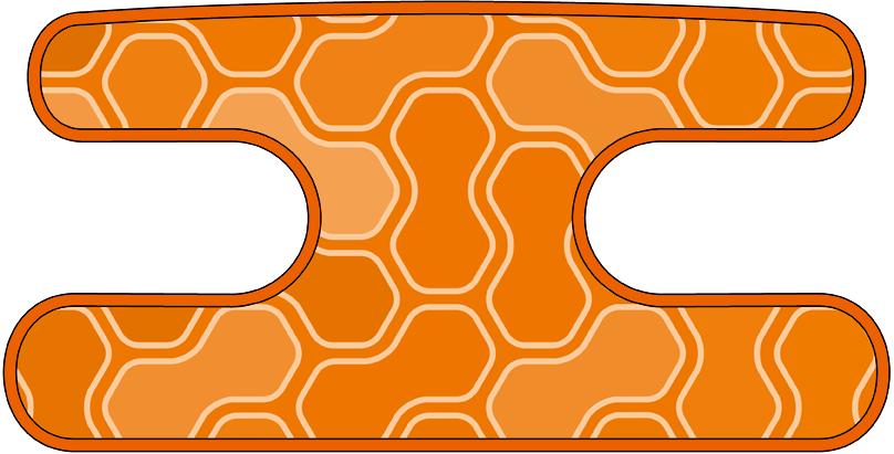 ハンドラップ ジオメトリクス オレンジ