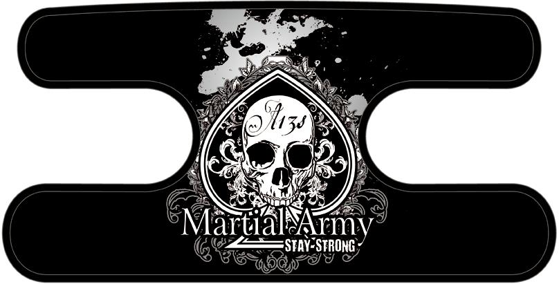 ハンドラップ マーシャルアーミー Ace of Skull ブラック×ホワイト
