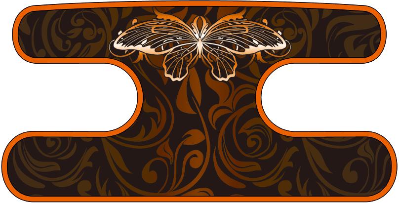 ハンドラップ ビンテージバタフライ ブラック×オレンジ