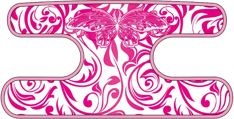 ハンドラップ ビンテージバタフライ ホワイト×ピンク