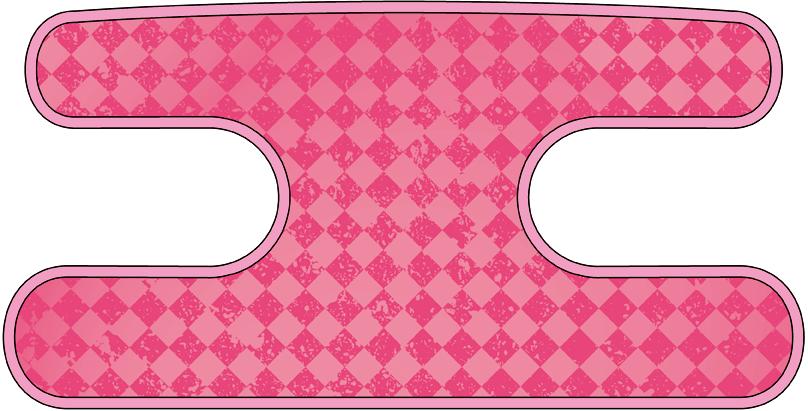 ハンドラップ チェックス ピンク