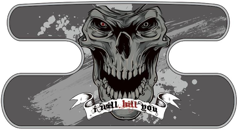 ハンドラップ I Will Kill You グレー
