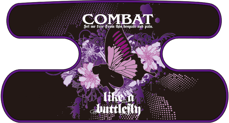 ボディコンバット用 ハンドラップ like a butterfly (面ファスナー)