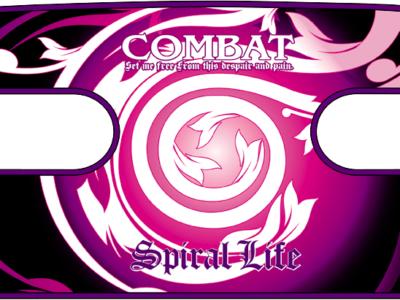 ボディコンバット用 ハンドラップ Spiral Combat (面ファスナー)