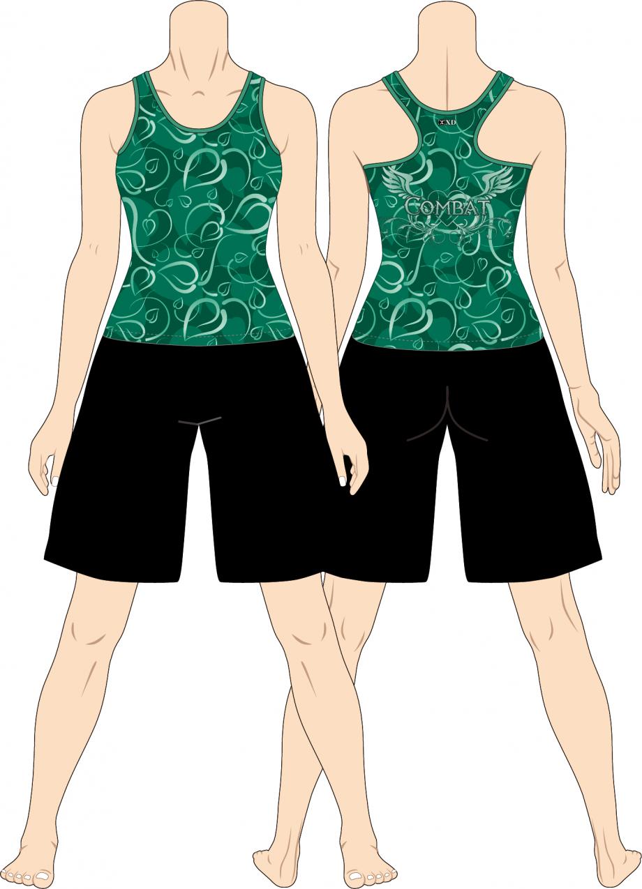 レディス タンクトップ Art Leaf Combat グリーン