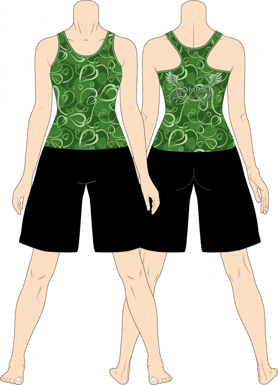 レディス タンクトップ Art Leaf Combat イエローグリーン