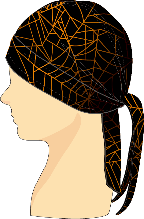 ヘッドセット スパイダーウェブ ブラック×オレンジ