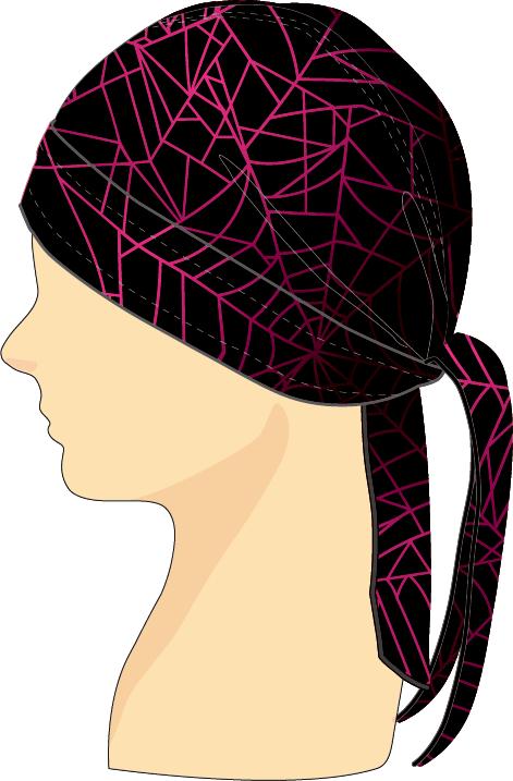 ヘッドセット スパイダーウェブ ブラック×ピンク