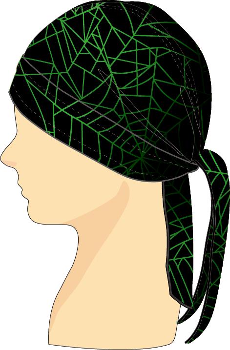 ヘッドセット スパイダーウェブ ブラック×グリーン