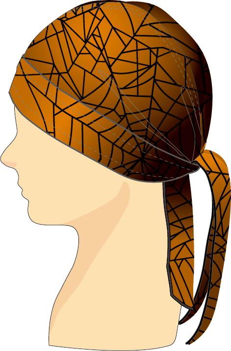 ヘッドセット スパイダーウェブ オレンジ×ブラック