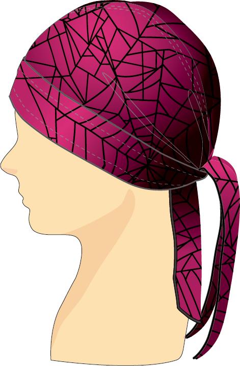 ヘッドセット スパイダーウェブ ピンク×ブラック
