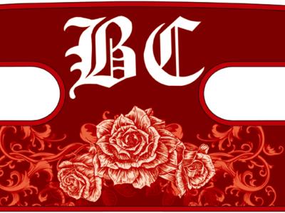 ボディコンバット用 ハンドラップ Ornament Rose (面ファスナー)