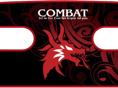 ボディコンバット用 ハンドラップ Dragon Head (面ファスナー)