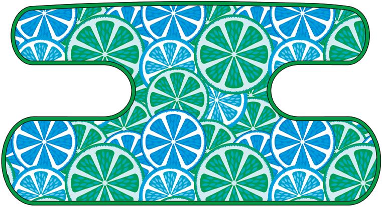 ハンドラップ Citrus Splash ブルー×グリーン