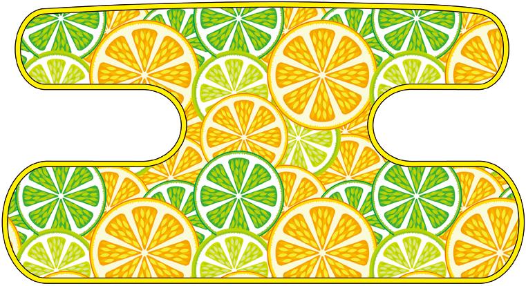 ハンドラップ Citrus Splash グリーン×イエロー