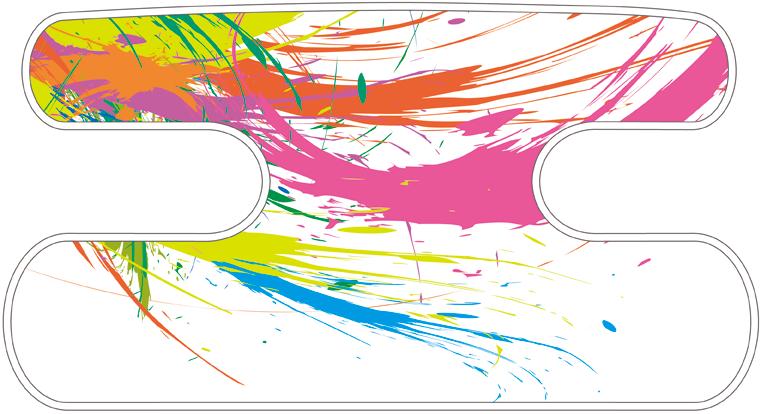 ハンドラップ Colorful Splash カラーミックスE